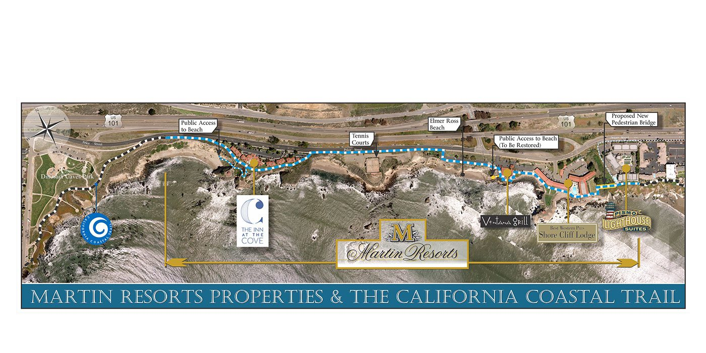 Martin Resorts Properties and the California Coastal Trail Project Map