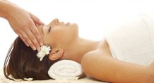 Woman ejoys relaxing massage at Central California Spa