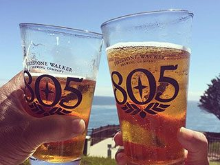 Cheers with 805 Firestone Walker Beer on the Coast