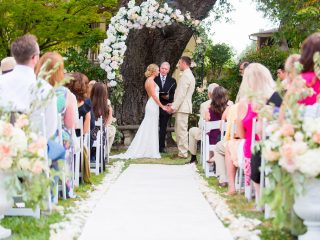 Elegant garden wedding at Paso Robles Inn