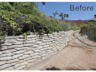 California Coastal Trail Pathway Before Martin Resorts Restoration Project