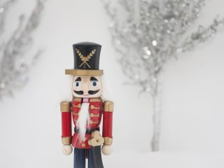 Festive holiday nutcracker for Christmas