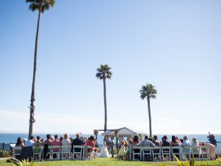 Beautiful oceanfront ceremony at Shore Cliff Hotel
