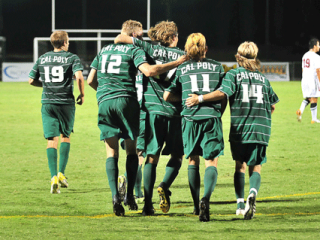 Cal Poly Soccer Team Camaraderie on the Field